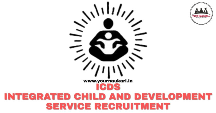 3034 Post ICDS Recruitment for Lady Supervisor 2019 - Your